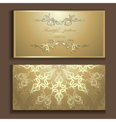 luxury card vector image vector image