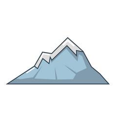 mountains icon cartoon style vector image