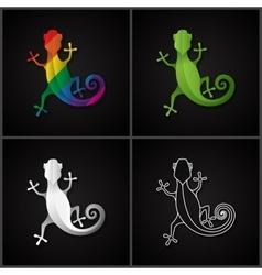 Stylized icon salamander vector image vector image
