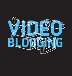 video blogging design with isolated video camera vector image