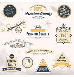 Vintage badges3 vector image