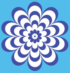 blue flower with a beautiful patterned petals vector image vector image
