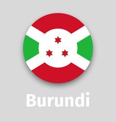 burundi flag round icon vector image