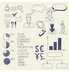 business ink doodles vector image vector image