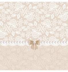 card with white lace vector image vector image