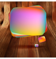 Colorful wooden bubble speech EPS 10 vector image vector image