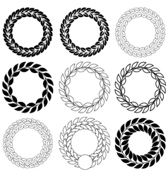 Set laurel wreath on the white background vector image