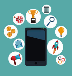 smartphone app digital marketing vector image