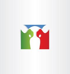 colorful cow logo icon vector image vector image