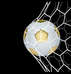 golden realistic soccer ball or football vector image
