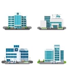 Hospital building set vector