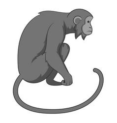 monkey icon monochrome vector image vector image