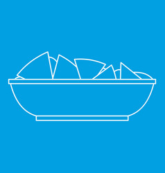 nachos chips icon outline style vector image