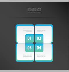 rectangle presentation template neon blue vector image vector image