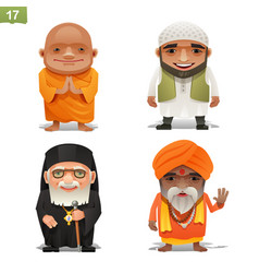 religion professions set vector image