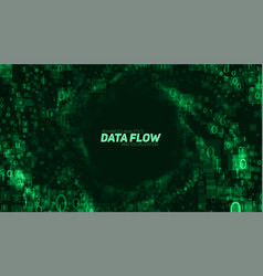 Abstract big data visualization green vector