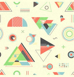 Abstract geometric background retro flyer vector