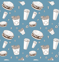 afe food set white and blue and black fast vector image
