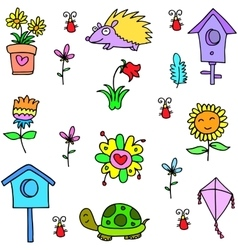 Art of item spring doodles vector