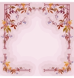 Autumn wild grape branches and leaves in pastel vector image