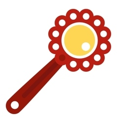 Baby rattle icon flat style vector