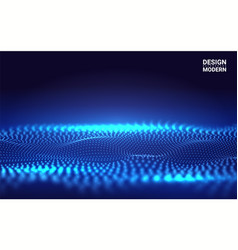beautiful 3d wave shaped array blended points vector image