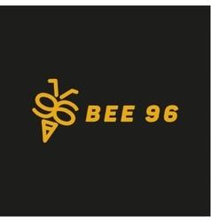 bee wings in form numbers 96 vector image
