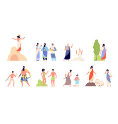 bible scenes religion people isolated biblical vector image