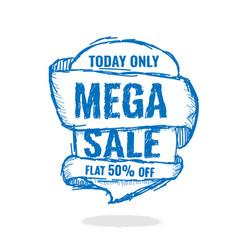 big super sale flat 50 off vector image