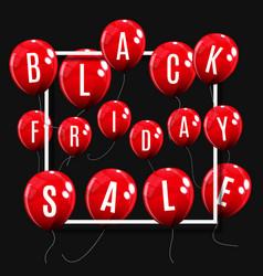 black friday sale balloon concept of discount vector image