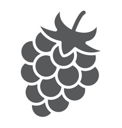 blackberry glyph icon fruit and vitamin vector image
