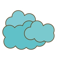 Blue clouds icon vector