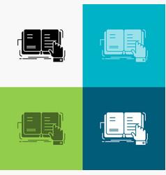 Book lesson study literature reading icon over vector
