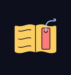 Bookmark rgb color icon for dark theme vector