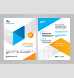brochure layout template design vector image