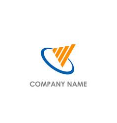 Business chart progress logo vector