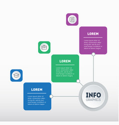 business presentation or infographic with 3 vector image