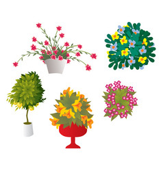 Cheerful flowers vector