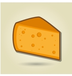 cheese icon design vector image
