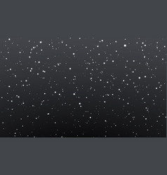 Christmas snow falling snowflakes on night vector