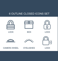 Closed icons vector