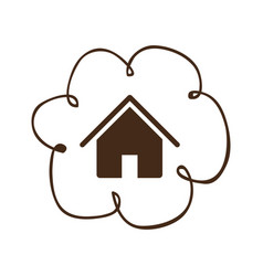Cloud service connect icon vector