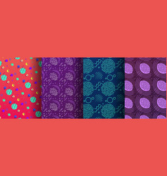 colorful memphis seamless patterns available vector image