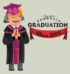 Congrats graduation class 2019 colorful fat poster vector