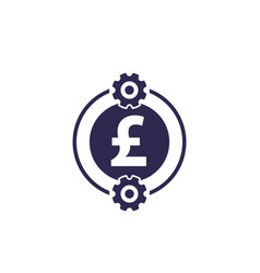 Cost optimization efficiency icon with pound vector
