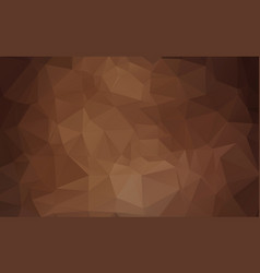 dark brown triangle mosaic background creative vector image