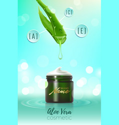 Desing advertising poster for cosmetic product for vector