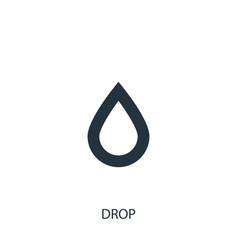 Drop icon simple gardening element symbol design vector