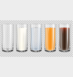 Empty and full glass vector