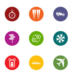 Exchange of impression icons set flat style vector